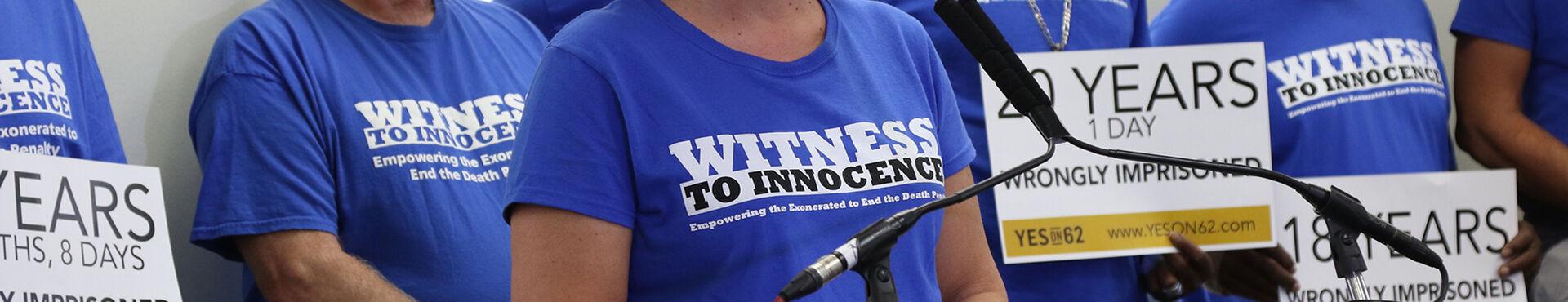 Banner - Witness to Innocence
