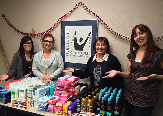 Personal care supplies offered by Survivors Of Torture International