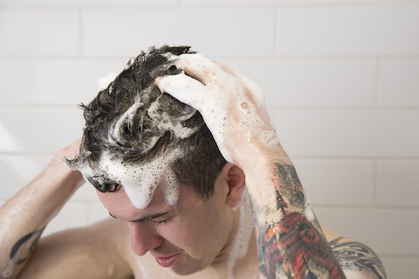 Shane using Rehab Shampoo