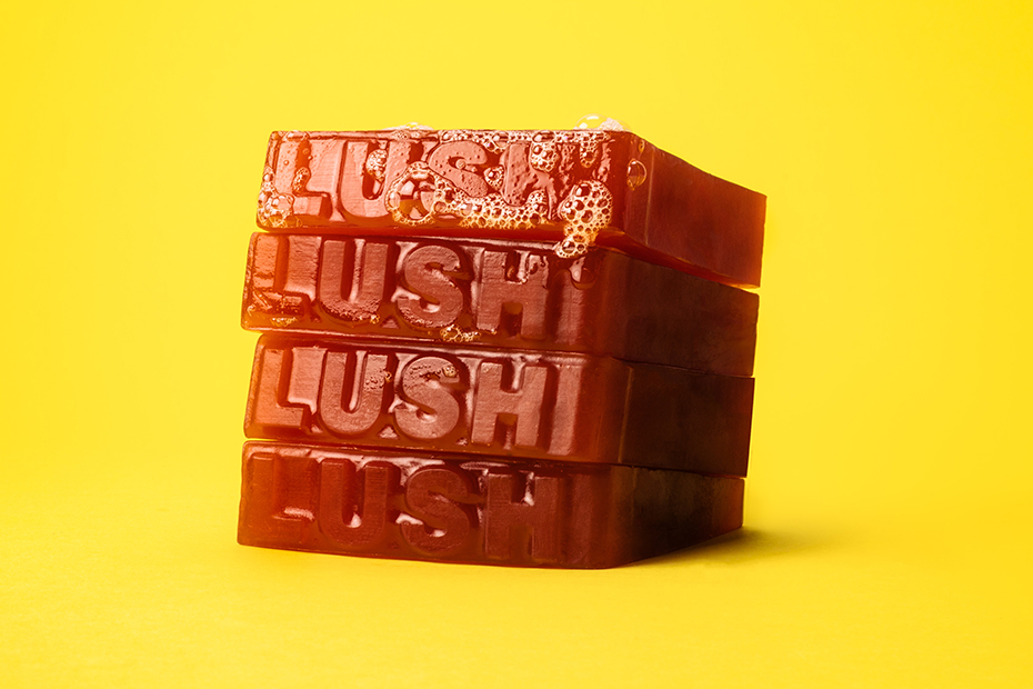 """Fresh slices of soap are stacked in a pile.""""  height="""