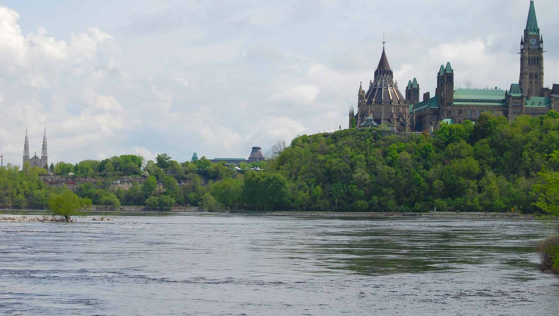 Parliament Hill overlooking the Ottawa River