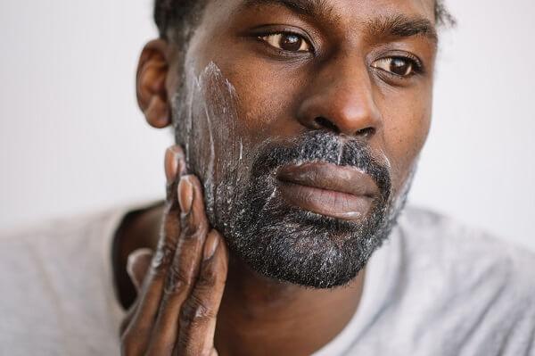 David cleansing with Kalamazoo Beard and Facial Wash