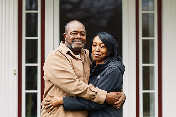Kwame and his wife LaShawn.