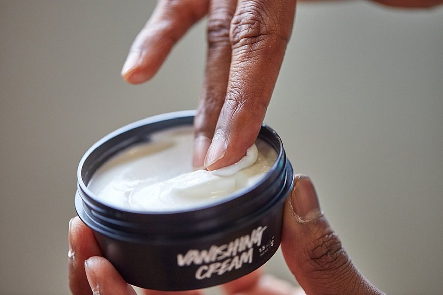 Vanishing Cream being applied to a face